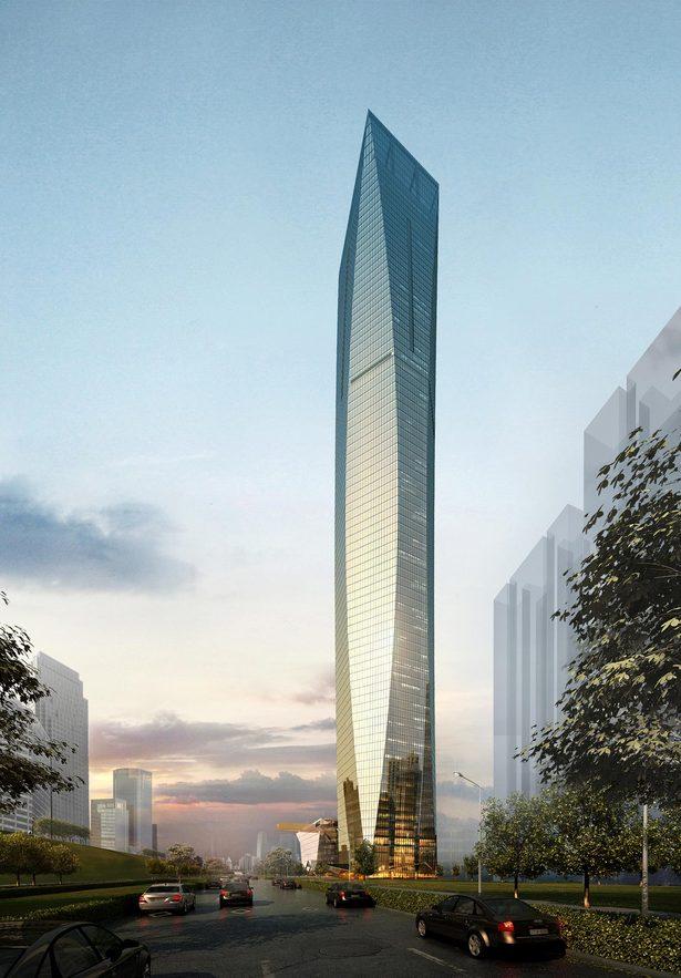 Tian Long Fortune Center, rendering by John Portman & Associates