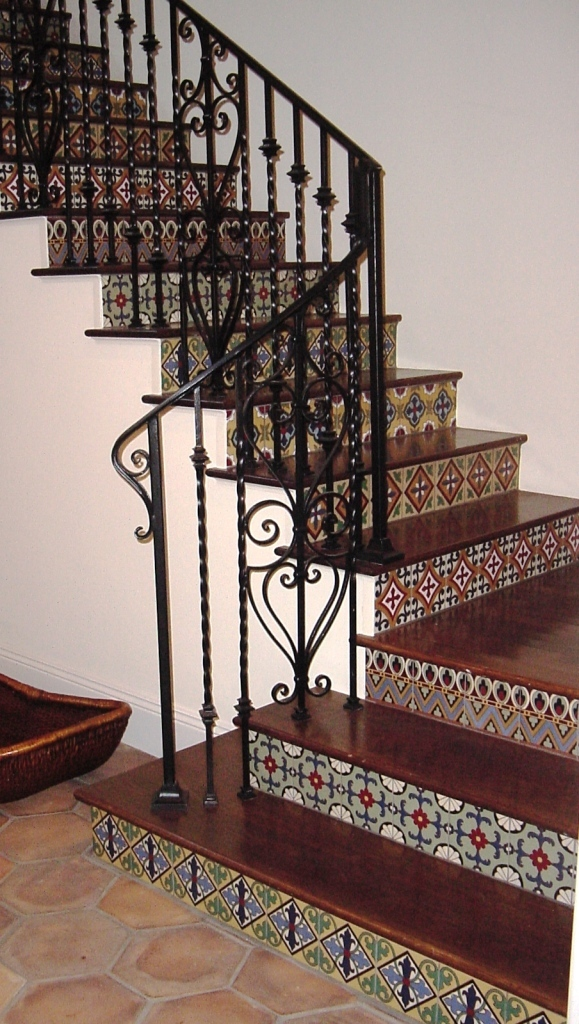 Spanish home, custom ironwork and custom tiles
