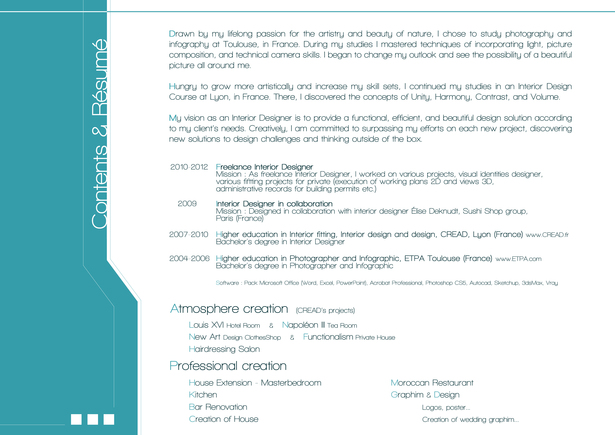 Resume & Contents