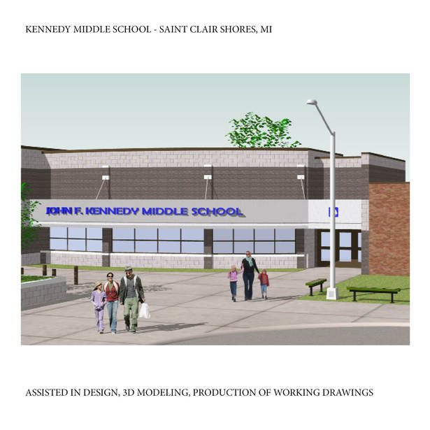 Office Addition for Kennedy Middle School in St. Clair Shores, MI, This project is built.