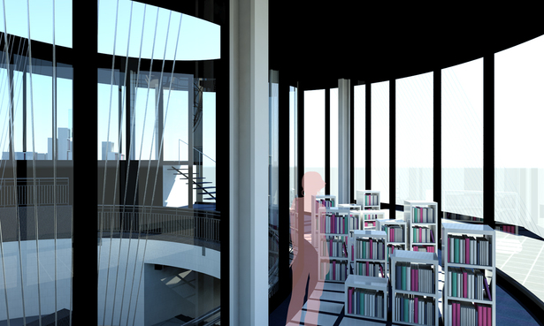 Library B : Rendering Looking at Interior