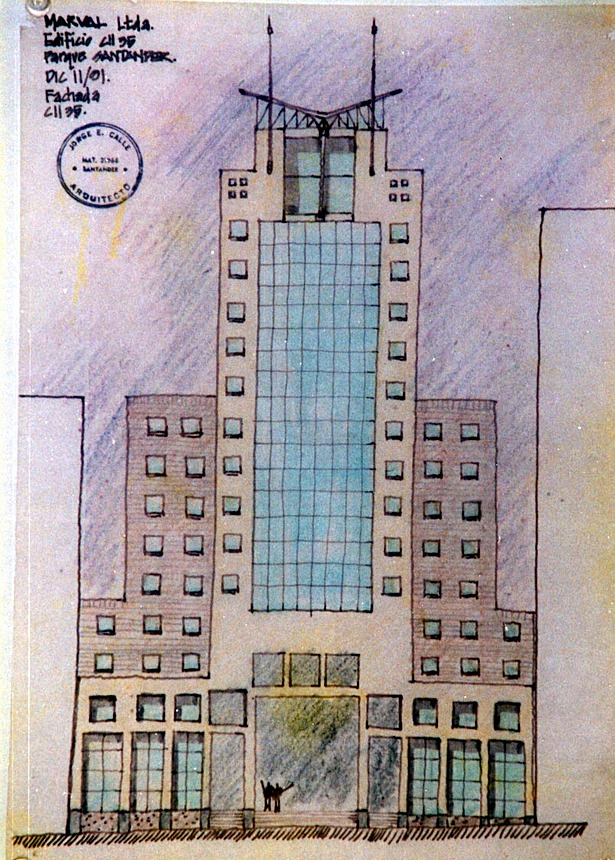 Early conceptual sketch of the tower.