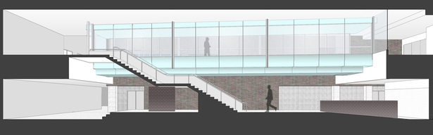 Section study of two-level Lobby space