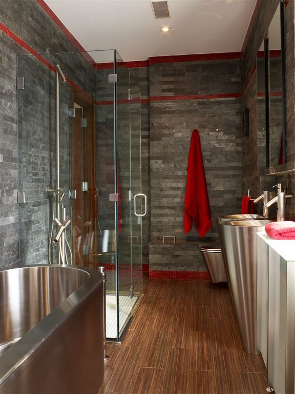 Award winning Ceramics of Italy Competition master bathroom