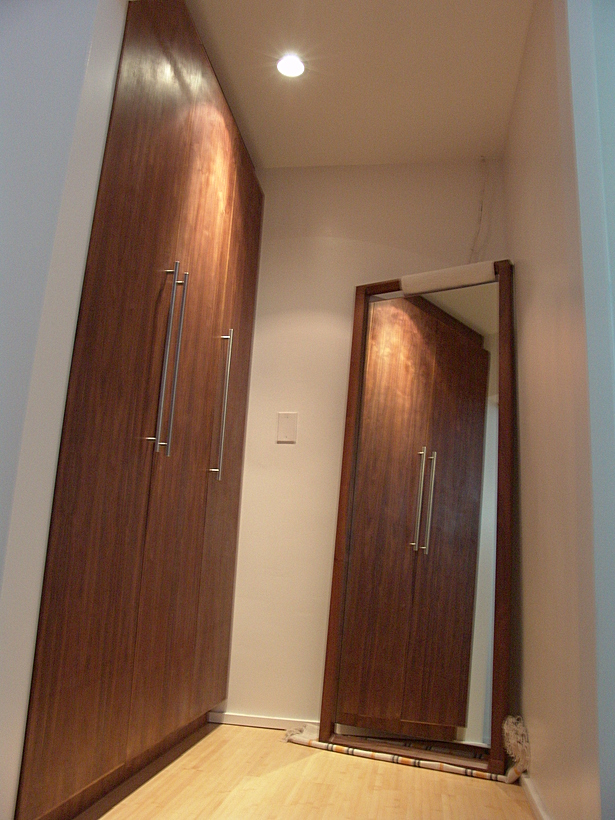 Solid walnut mirror