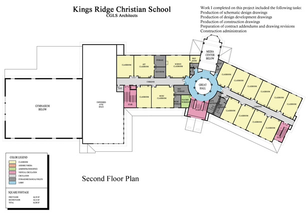 Kings Ridge Christian School-second floor plan