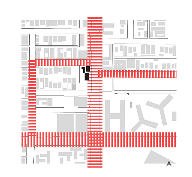 Fire truck circulation at the site level