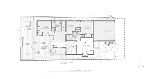 Proposed First Floor Demolition Plan
