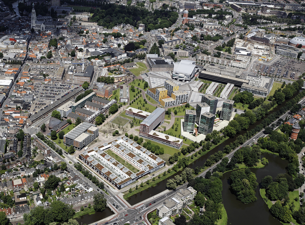 Claus en Kaan Architecten / Aerial photo of OMA development