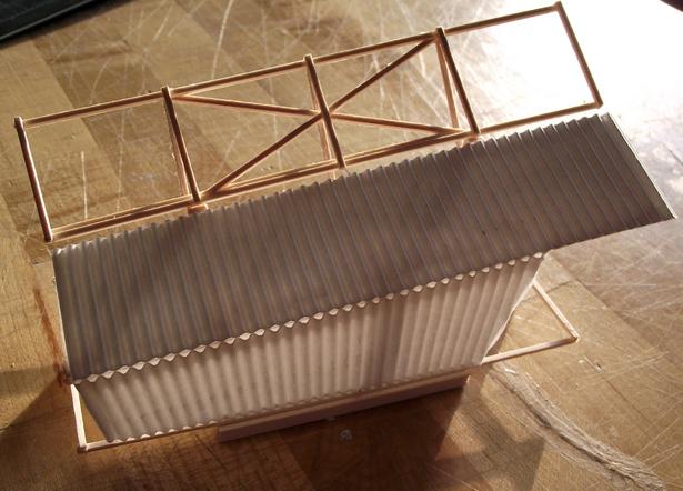 process model (basswood, corrugated plastic)