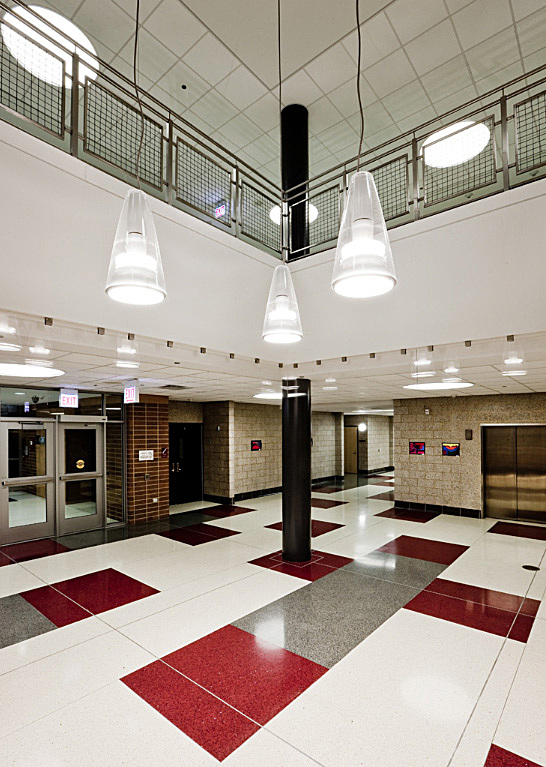 Irene C. Hernández School Interiors-Floor Patern Layout is my design.