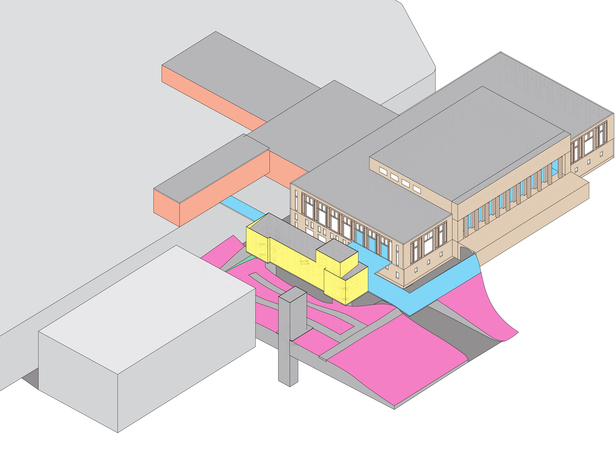 Diagram demonstrating the level changes in the site.