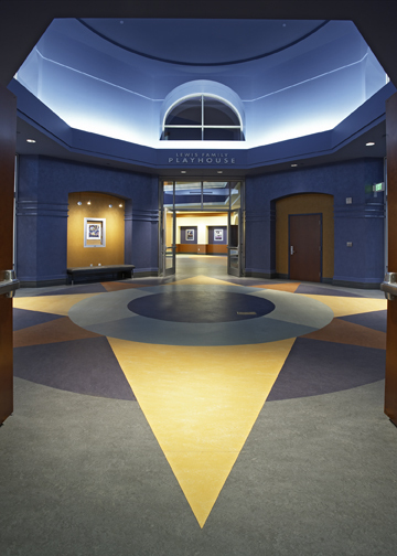 Breezeway connecting the Theater and the Library