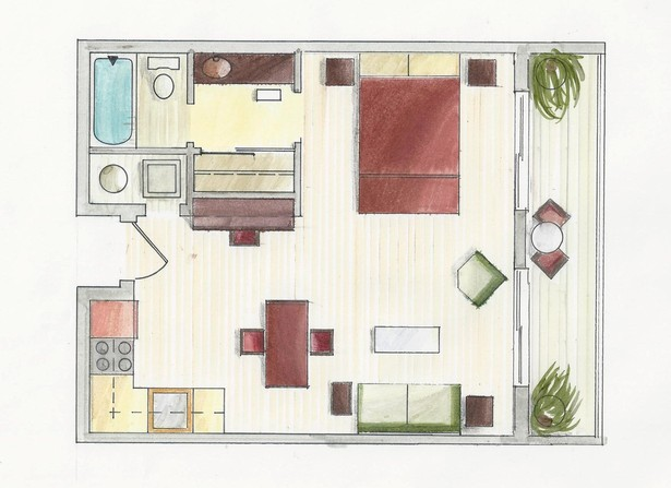 Rendered Floorplan