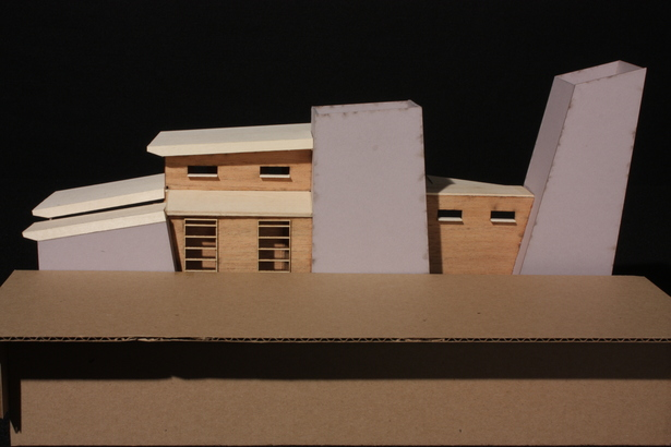 Conceptual Sectional Model - Exterior View