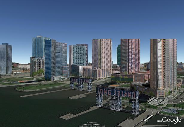 Gantry Park - Google Model by J. F. Bautista. LIC, NY