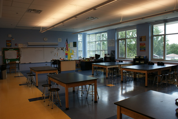 Interior View of Classroom
