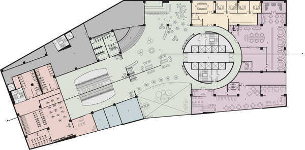 2nd Floor Plan with Zone Blocking.
