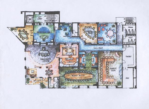 Penthouse Interior Decoration Layout
