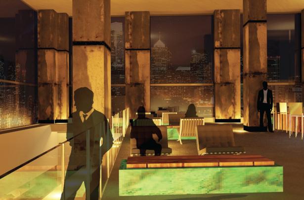 Glass Lounge 3dsmax Render