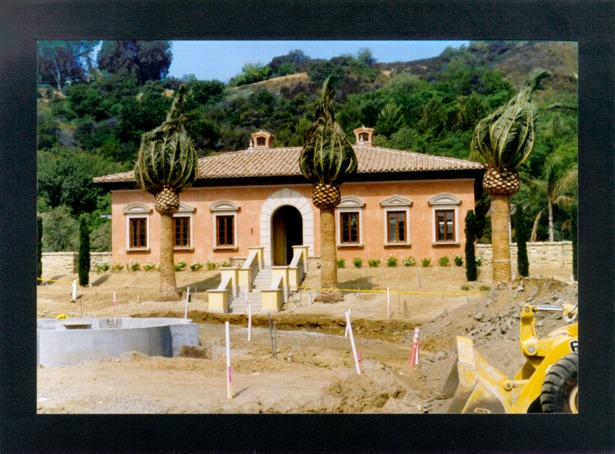 Guest House during Construction