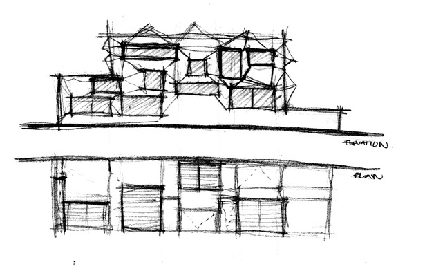 Plan - Elevation Sketch