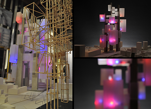 concrete & etched acrylic model of final configuration