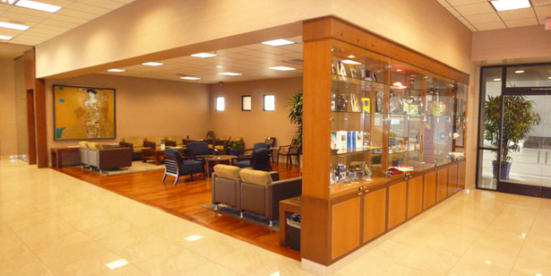 View of New Service and Parts Waiting Area