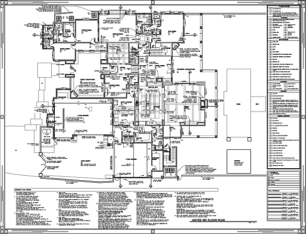 Construction Document Floor Plan