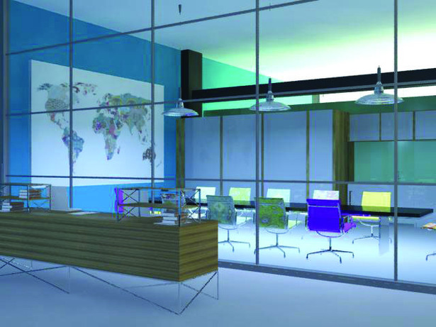 Reception and Conference room (3Dmax rendering)