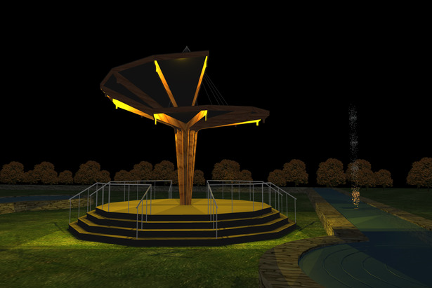 Gazebo Rendering: Nighttime view