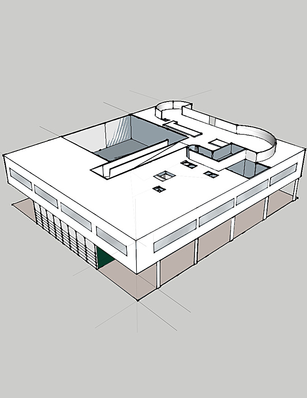 Villa Savoye Axonometric