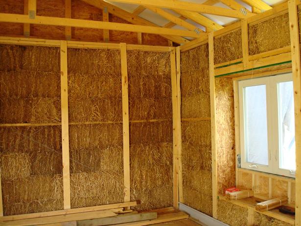 Interior walls before drywall installation.