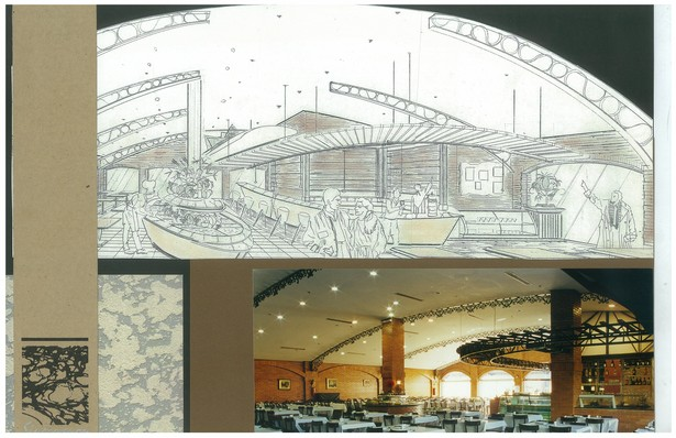2000 Brazilian Steakhouse | Interior Hand-Sketch