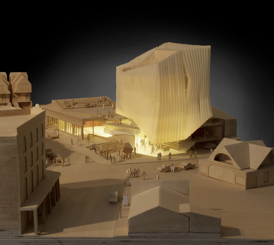 Southeast view of physical model (Heber Avenue and Main Street)