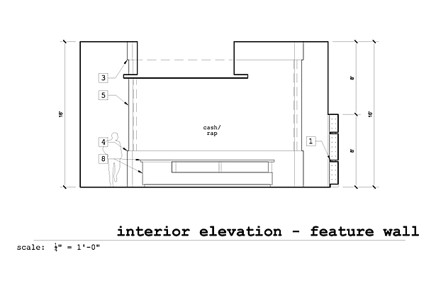 Interior Elevation West