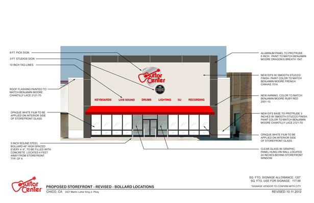 Our storefront design incorporating a more modern design aesthetic. 