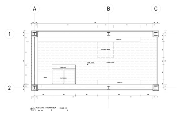 Floor plan, viewing box