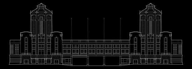 Navy Pier Headhouse CAD elevation