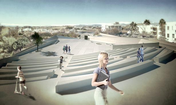 The amphitheatre.