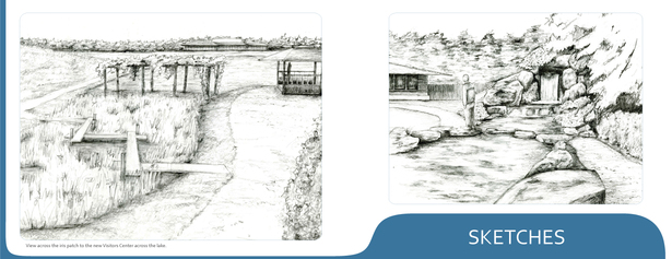 Presentation drawings from a Japanese Garden proposal for the Fargo, North Dakota Botanical Garden. 