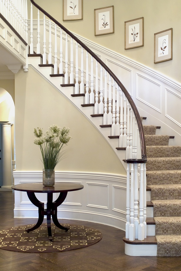 New construction georgian colonial david boronkay for Georgian staircase design