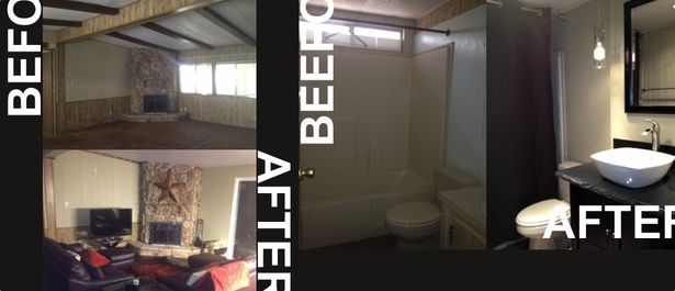 Living Room and Guest Bath | Before and After