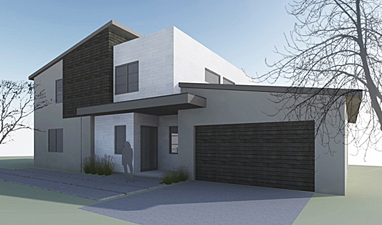 Fullerton Residence | front elevation