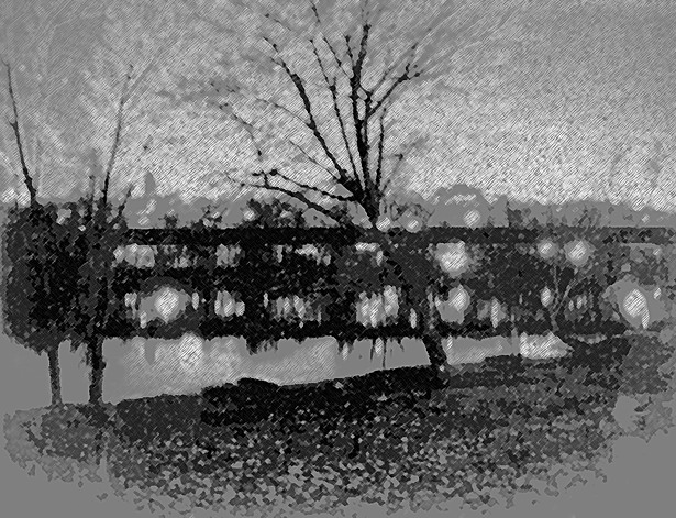 Huron River View Sketch