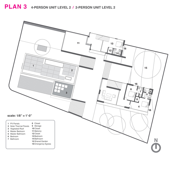 Top level floor plan