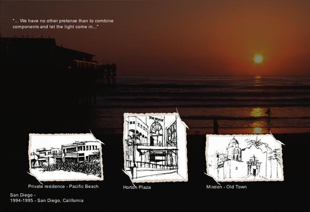 San Diego hand sketches - 1994-1995