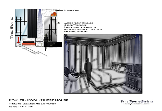 KOHLER GUEST/POOL HOUSE - THE SUITE