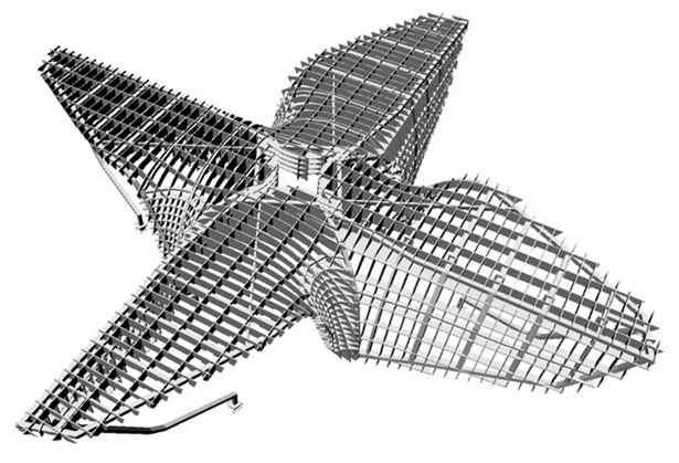 New Amsterdam Pavilion - Structural Model (Image: X2US)