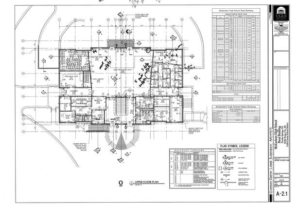 McEachern Band Building-upper level floor plan